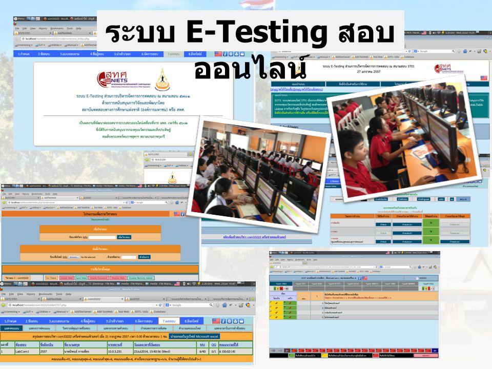 ระบบ E-Testing สอบ ออนไลน์