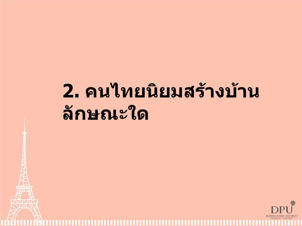 2. คนไทยนิยมสร้างบ้าน ลักษณะใด