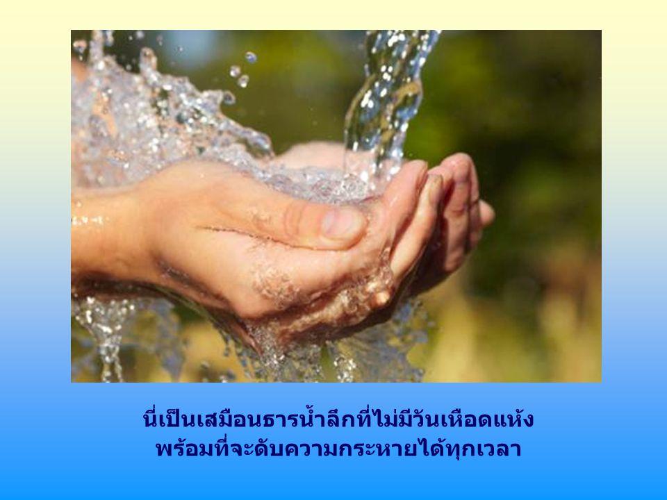 แต่มีบางช่วงที่พิเศษที่เราจะดื่มน้ำนี้ได้จากภายในตัวเรา คือเมื่อ เราภาวนาและพยายามสร้างความสัมพันธ์อันลึกซึ้งกับพระองค์ ผู้ประทับอยู่ในส่วนลึกแห่งจิตใจของเรา