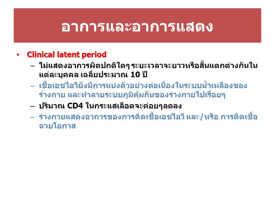 Nucleoside reverse transcriptase inhibitor (NRTIs) Nucleotide reverse transcriptase inhibitor (NtRTIs) ที่มีจำหน่ายในประเทศไทย – NRTIs abacavir (ABC) didanosine (ddI) lamivudine (3TC) – NRTIs และ NtRTIs stavudine (d4T) tenofovir (TDF) zalcitabine (ddC) zidovudine (AZT) – NRTIs ในรูป fixed-dose combination AZT/3TC 300/150 mg