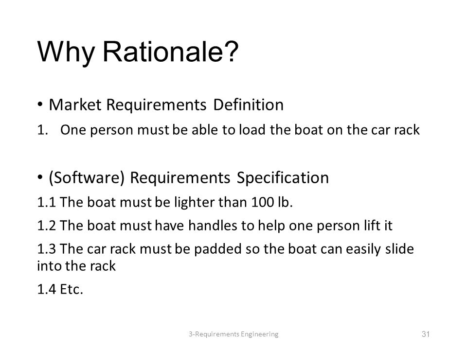 Why Rationale.