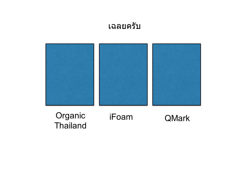 เฉลยครับ Organic Thailand iFoam QMark