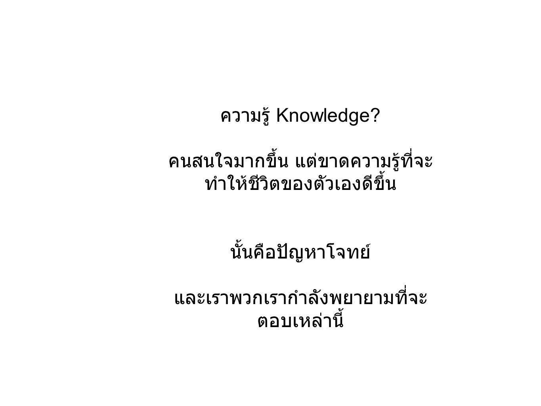 ความรู้ Knowledge.