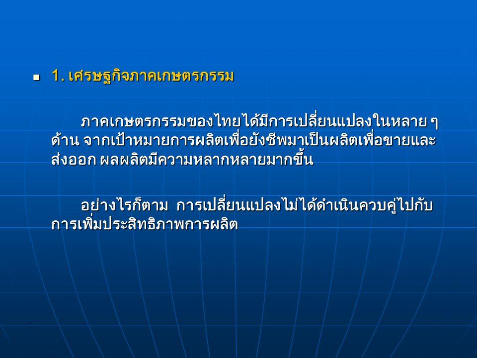 """เศรษฐกิจไทยมีอยู่ 2 ระบบ หรือที่เรียกว่า ระบบเศรษฐกิจ แบบ """"ทวิลักษณ์"""" (Dual Economics) ได้แก่ 1. เศรษฐกิจภาคเกษตรกรรม 2. เศรษฐกิจภาคอุตสาหกรรมและภาคบร"""
