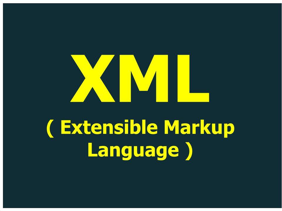 XML ( Extensible Markup Language )