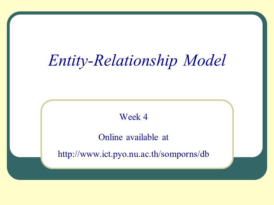52 EER Model (Enhanced ER Model) l เป็นการนำแนวคิดของ ER Model มาปรับปรุง โดยการเพิ่ม คุณสมบัติความสัมพันธ์แบบ supertype / subtype ซึ่งเป็น แนวคิดที่เรียกว่า generalization / specialization รวมถึง กระบวนการถ่ายทอดคุณสมบัติ (attribute inheritance) l ช่วยลดความซ้ำซ้อนในข้อมูล
