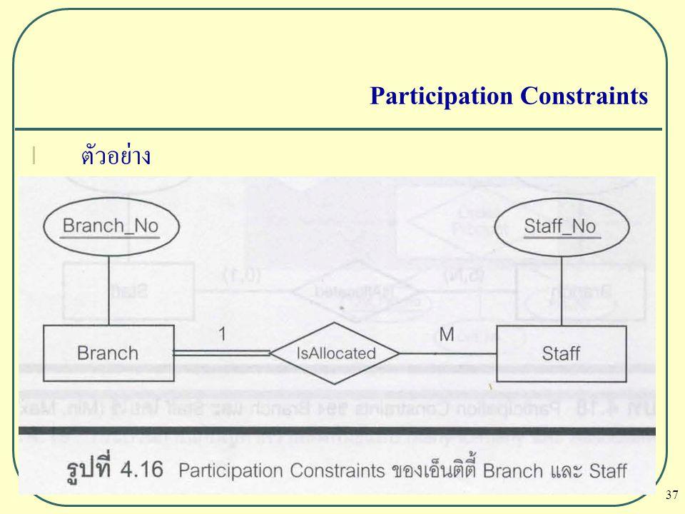 37 Participation Constraints l ตัวอย่าง