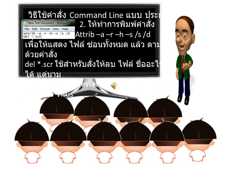 วิธีใช้คำสั่ง Command Line แบบ ประยุกต์ 1. คลิกขวาในพื้นที่ว่างทำการสร้างไฟล์ Text Document