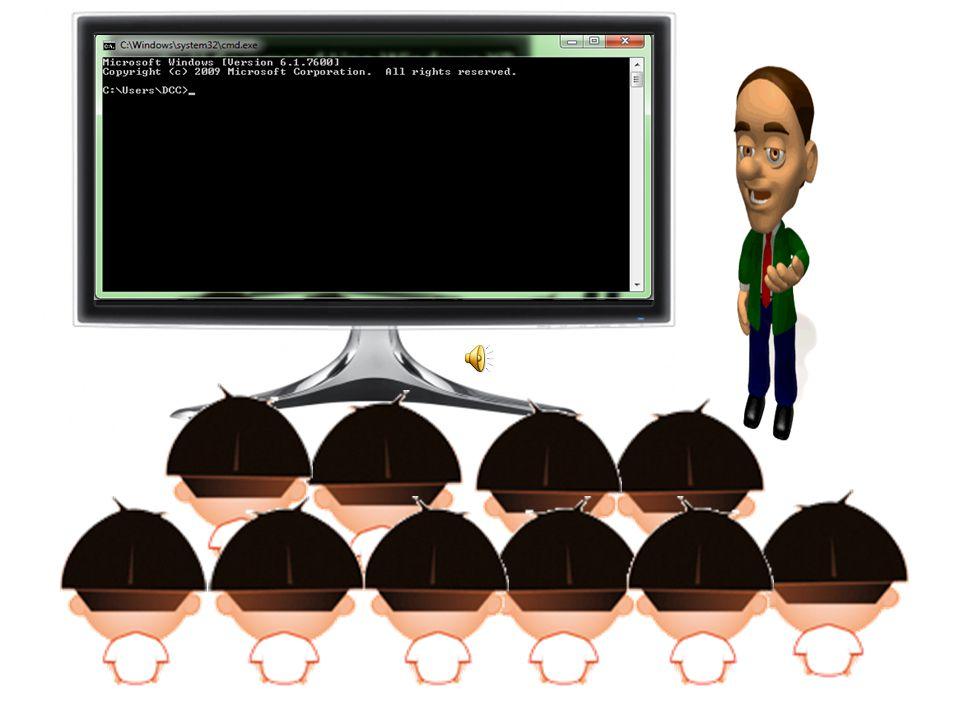 การเรียกใช้ Command Line Windows XP กดที่ Start > Run พิมพ์ CMD กดที่ Start > Program > Command