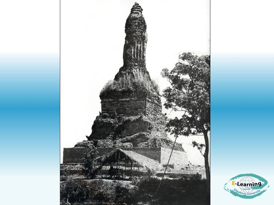 เจดีย์อีกแบบหนึ่งที่พบใน สุโขทัย คือ เจดีย์ทรงจอมแห เป็น เจดีย์ฐานสี่เหลี่ยม ส่วนบนของฐาน มีคูหาประดิษฐานพระพุทธรูป องค์ ระฆังก่อเป็นริ้วคล้ายแห ได้แก่เจดีย์ ที่เขาพระบาทน้อย ( รูป 11)