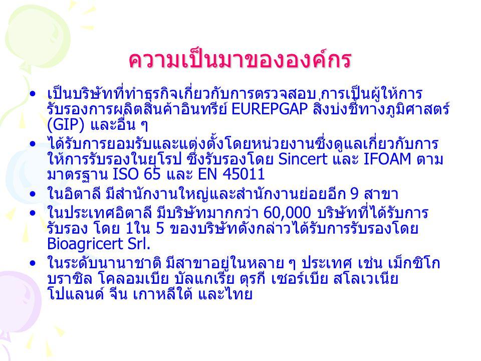 ความเป็นมาขององค์กร เริ่มเข้ามาในประเทศไทยตั้งแต่ปี พ.ศ.