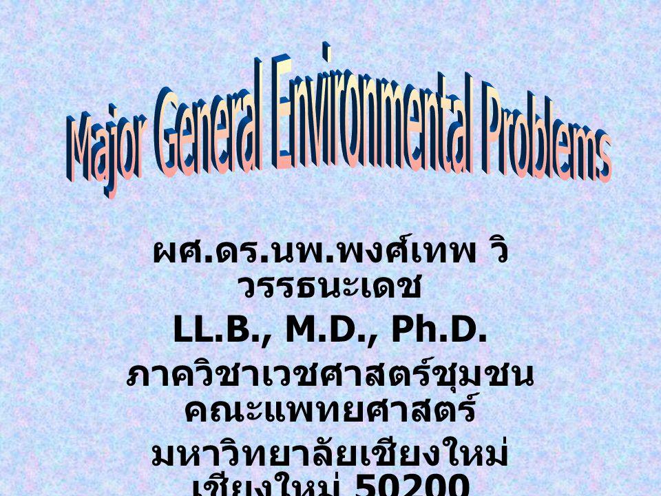 ผศ. ดร. นพ. พงศ์เทพ วิ วรรธนะเดช LL.B., M.D., Ph.D. ภาควิชาเวชศาสตร์ชุมชน คณะแพทยศาสตร์ มหาวิทยาลัยเชียงใหม่ เชียงใหม่ 50200 E-mail: pwiwata@mail.med.