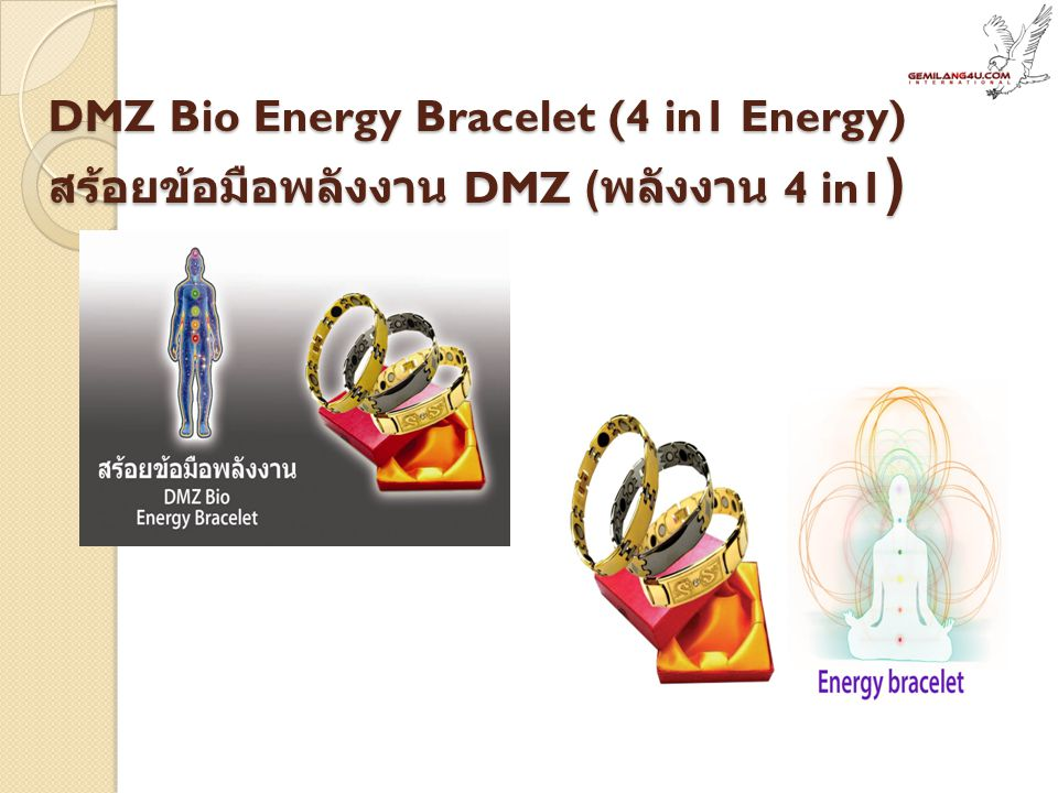 DMZ Bio Energy Bracelet (4 in1 Energy) สร้อยข้อมือพลังงาน DMZ ( พลังงาน 4 in1 )