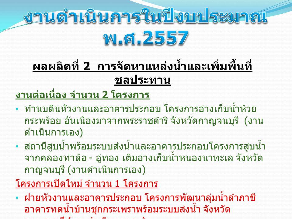 วงเงินตามคำขอตั้งตามปีงบประมาณ พ.ศ.2557 โครงการ วงเงินตามคำขอ ตั้งฯ ปี 2557 ( ล้านบาท ) 1.