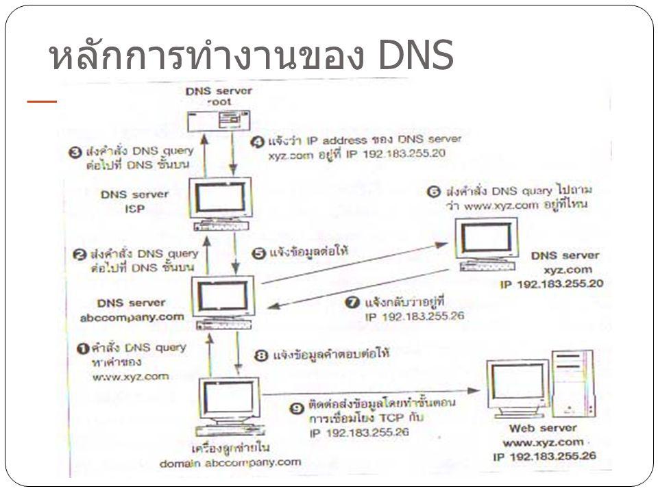 13 หลักการทำงานของ DNS