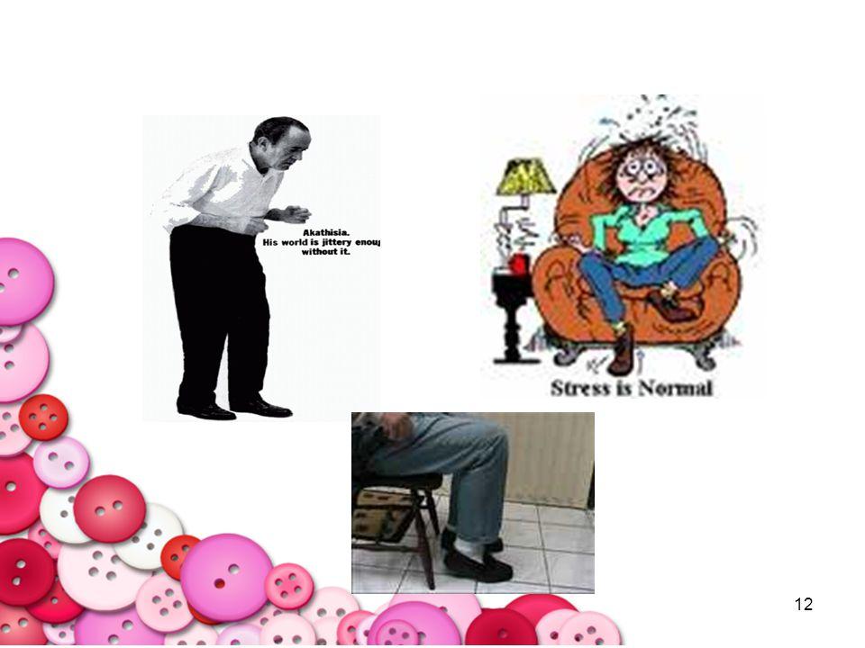 13 2.Psuedoparkinsonism : เดินตัว แข็ง มือ/ขาสั่น แนวทางการแนะนำเบื้องต้น –ทดลองเพิ่มยา Artane, Benzhexol, Benadryl (กรณีที่ไม่สามารถมาพบแพทย์ได้) -ให้ผู้ป่วยรับประทาน Artane หรือ Benzhexol เพิ่มจากเดิมอีก 2-5 mg/day ได้ถึง 15 mg/day