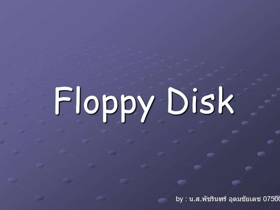 Floppy Disk by : น. ส. พัชรินทร์ อุดมชัยเดช 07500629