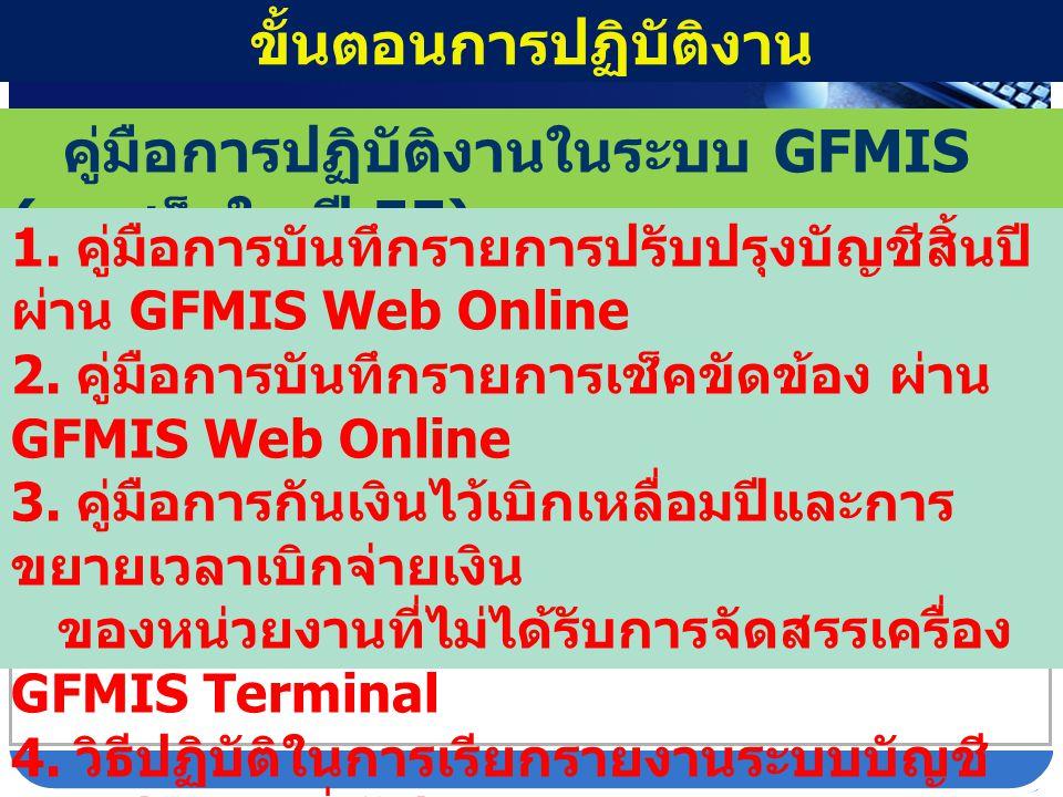 http://gfmisreport.m ygfmis.com กรอก User name : R xxxxxxxxxx Password :