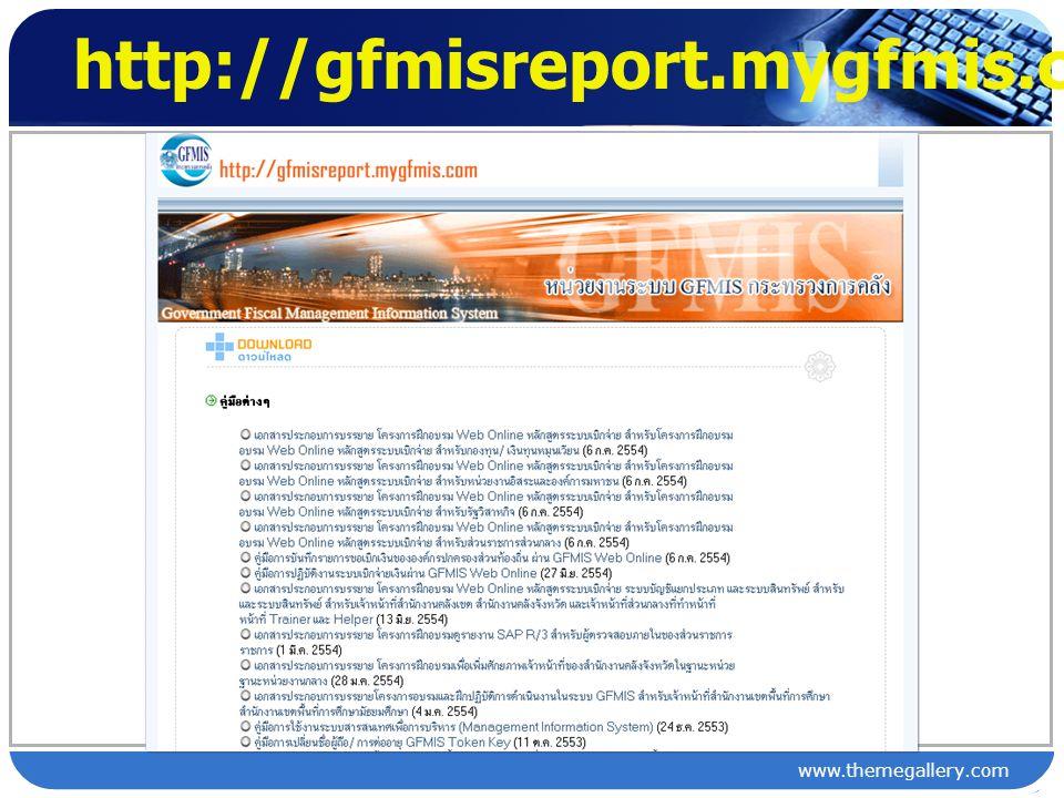 ระบบ GFMIS 1.ระบบข้อมูลด้าน ปฏิบัติการ Software SAP R/3 2.
