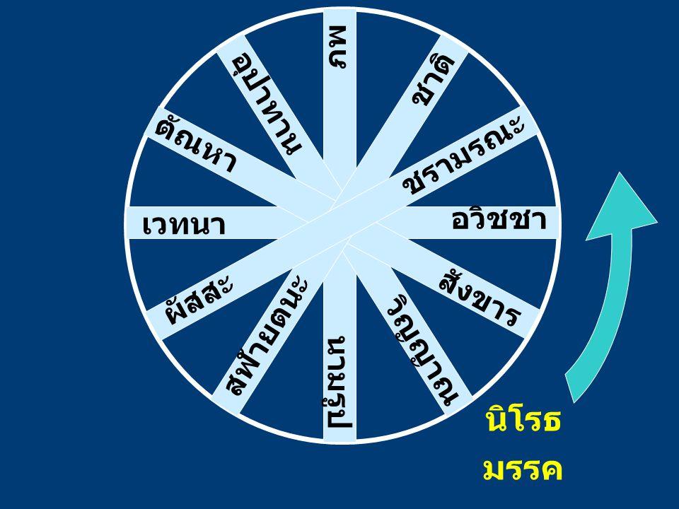 อวิชชา สังขาร วิญญาณ นามรูป สฬายตนะ ผัสสะ เวทนา ตัณหา อุปาทาน ภพ ชาติ ชรามรณะ นิโรธ มรรค