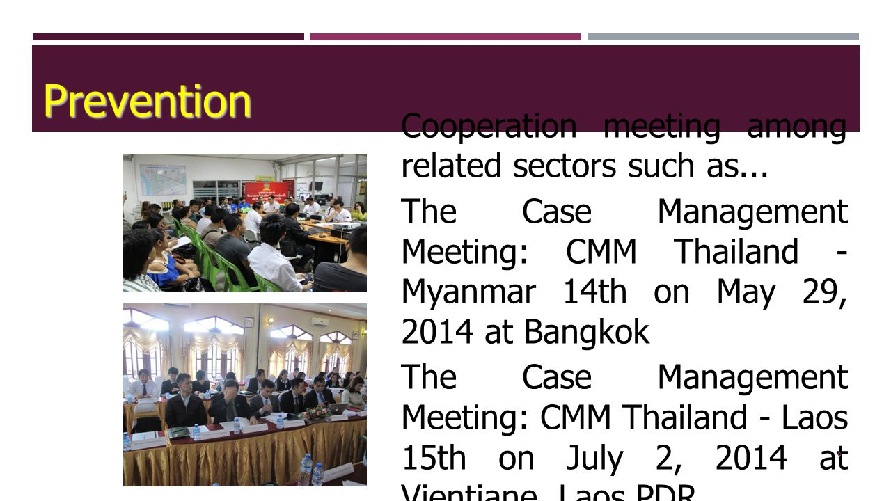 9 Cooperation meeting among related sectors such as...