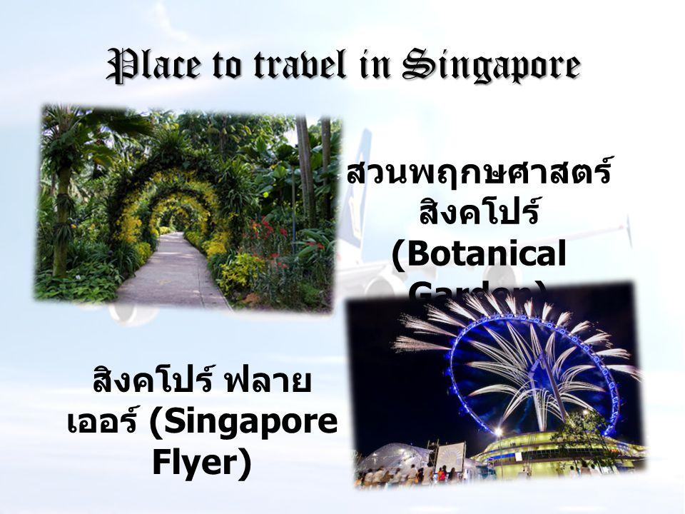 Place to travel in Singapore สวนพฤกษศาสตร์ สิงคโปร์ (Botanical Garden) สิงคโปร์ ฟลาย เออร์ (Singapore Flyer)