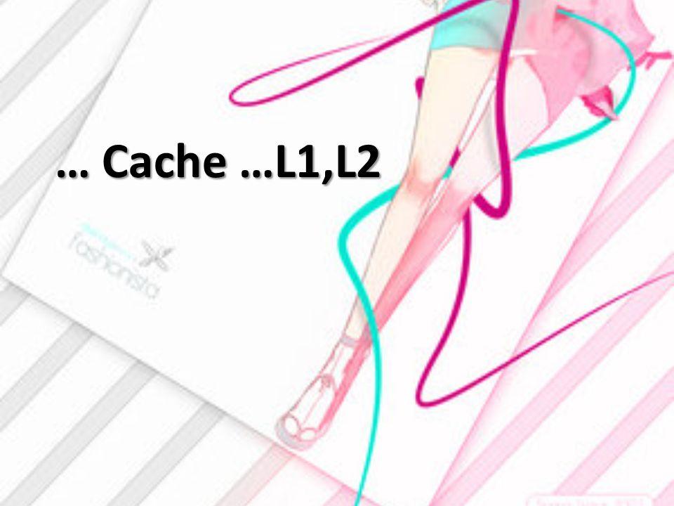 … Cache …L1,L2