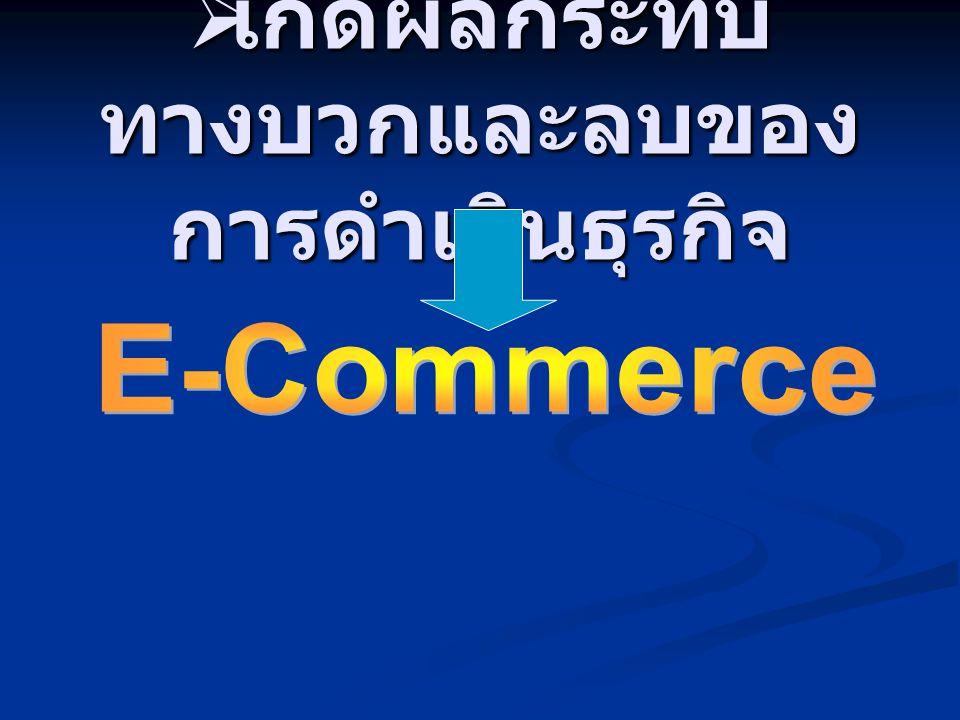  เกิดผลกระทบ ทางบวกและลบของ การดำเนินธุรกิจ