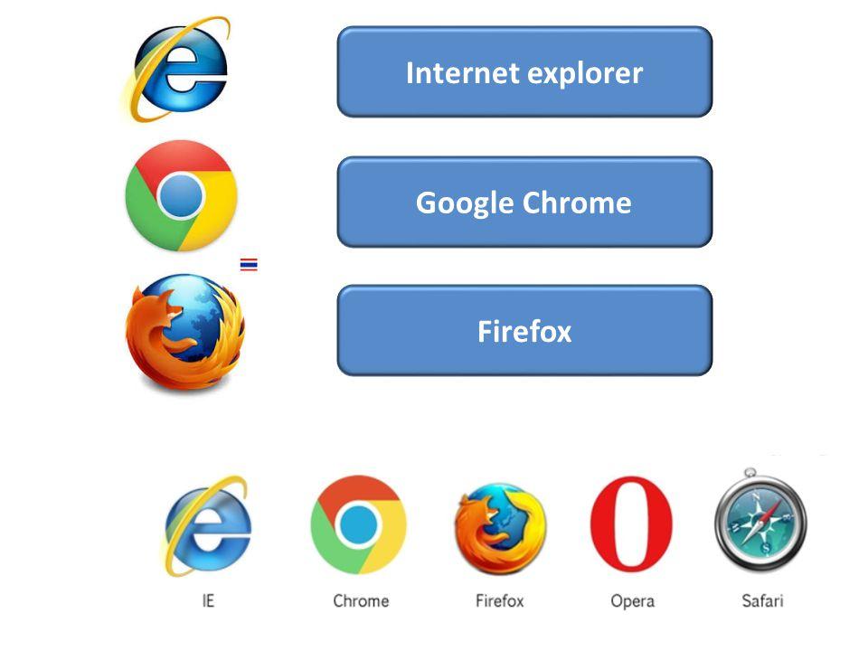 Google Chrome Firefox Internet explorer