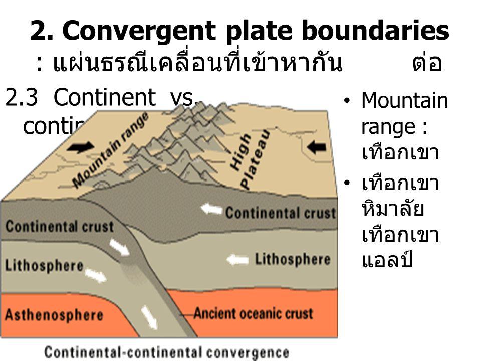 Mountain range : เทือกเขา เทือกเขา หิมาลัย เทือกเขา แอลป์ 2.