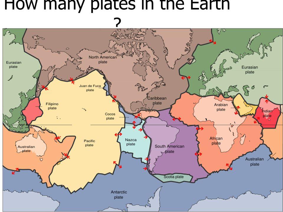 Plate, Lithosphere นักธรณีวิทยาแบ่งแผ่นธรณีภาคของโลก ออกเป็น 2 ประเภท คือ แผ่นธรณีทวีป และแผ่นธรณีมหาสมุทร รวมทั้งหมด 13 แผ่น ได้แก่ 1.