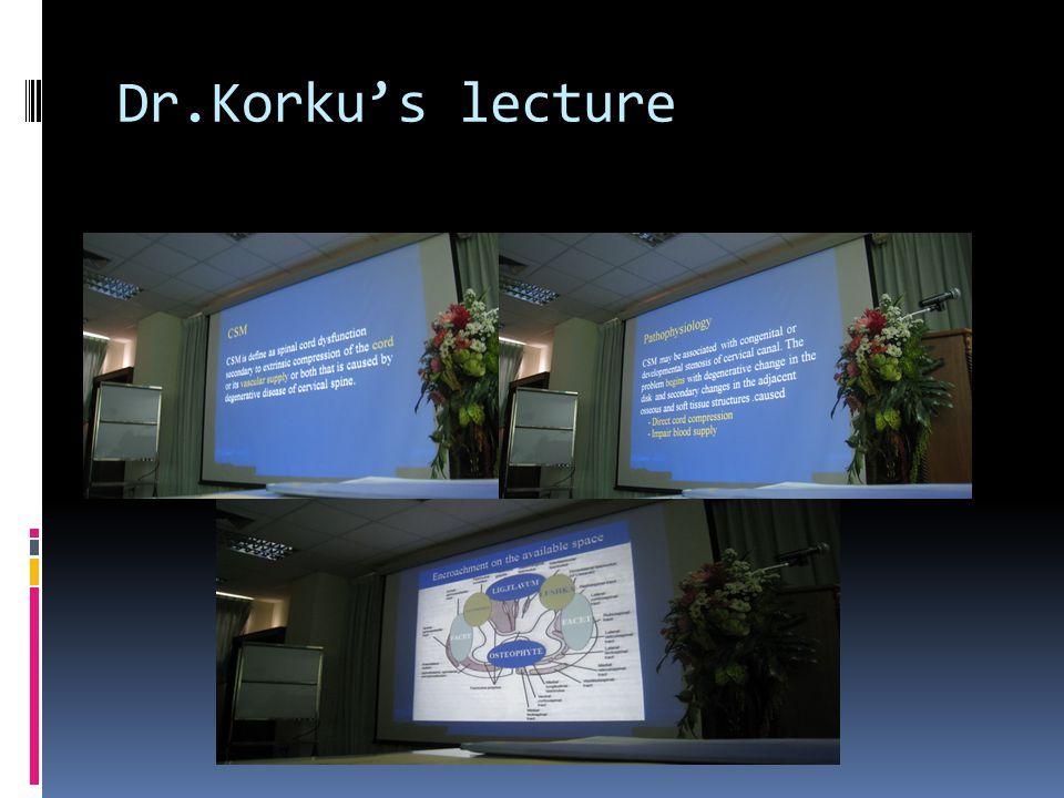 Dr.Korku's lecture