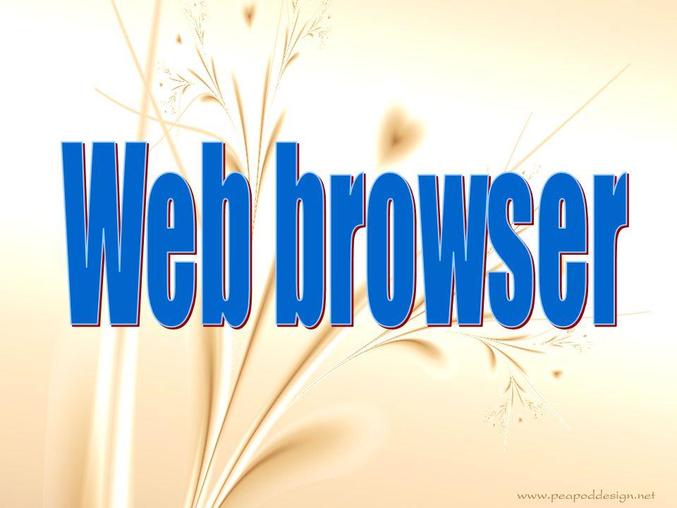 web browser หรือ โปรแกรมค้นดูเว็บ คือโปรแกรมคอมพิวเตอร์ ที่ผู้ใช้สามารถ ดูข้อมูลและโต้ตอบกับข้อมูลสารสนเทศ ที่จัดเก็บในหน้าเวบที่สร้างด้วยภาษา เฉพาะ เช่น ภาษาเอชทีเอ็มแอล (HTML) ที่จัดเก็บไว้ที่ระบบบริการเว็บ หรือเว็บเซิร์ฟเวอร์หรือระบบคลังข้อมูล อื่นๆ โดยโปรแกรมค้นดูเว็บ เปรียบเสมือนสื่อในการติดต่อกับ เครือข่าย หรือ เน็ตเวิร์คขนาดใหญ่ที่ เรียกว่าเวิลด์ไวด์เว็บ