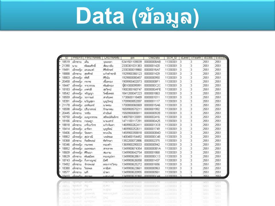 Data ( ข้อมูล )