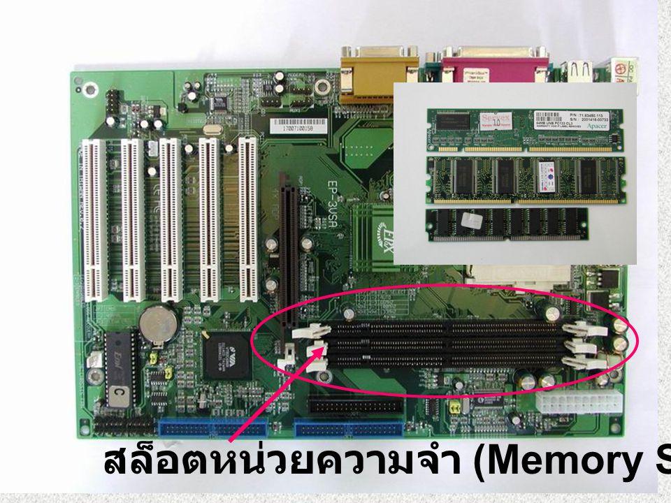 สล็อตหน่วยความจำ (Memory Slot)