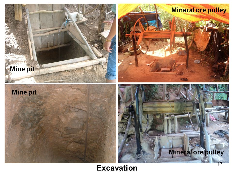 17 Excavation Mine pit Mineral ore pulley