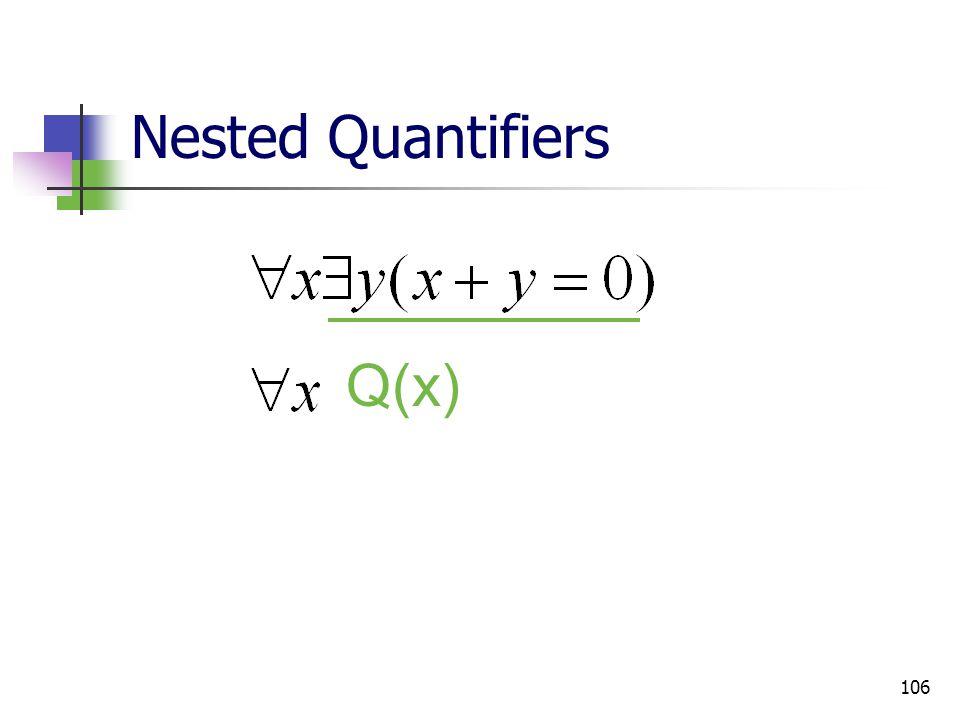 106 Nested Quantifiers Q(x)