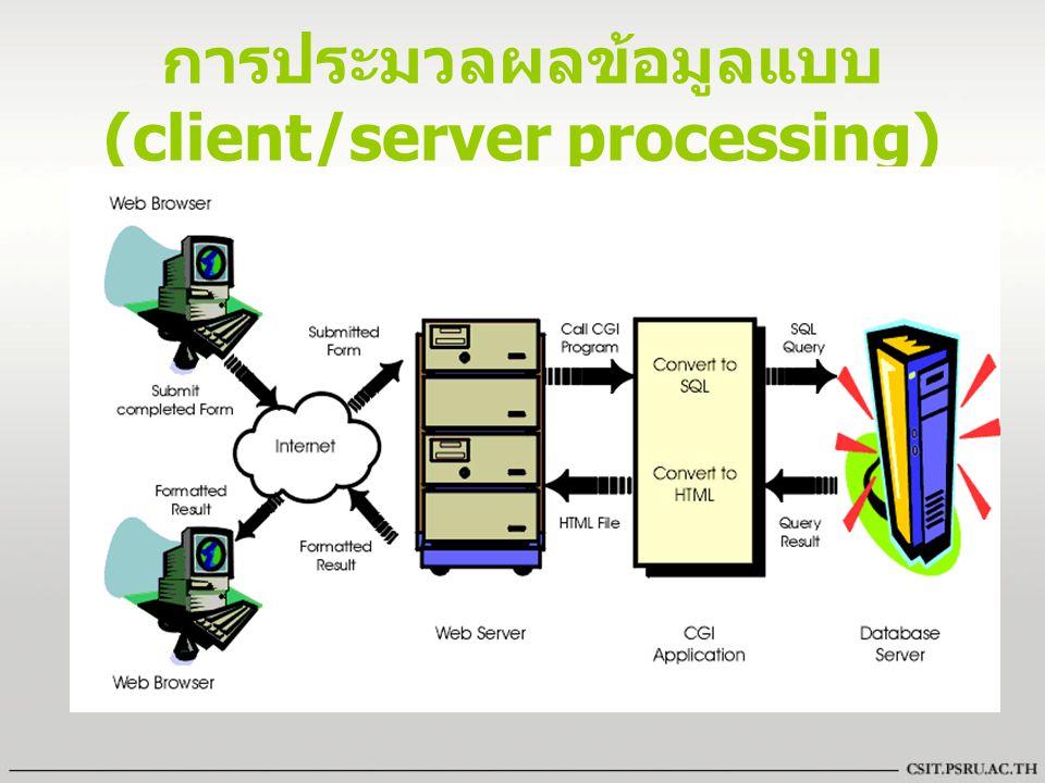 การประมวลผลข้อมูลแบบ (client/server processing)