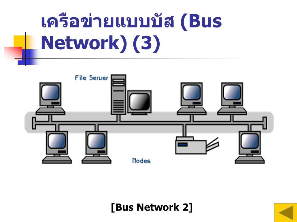 เครือข่ายแบบบัส (Bus Network) (3) [Bus Network 2]