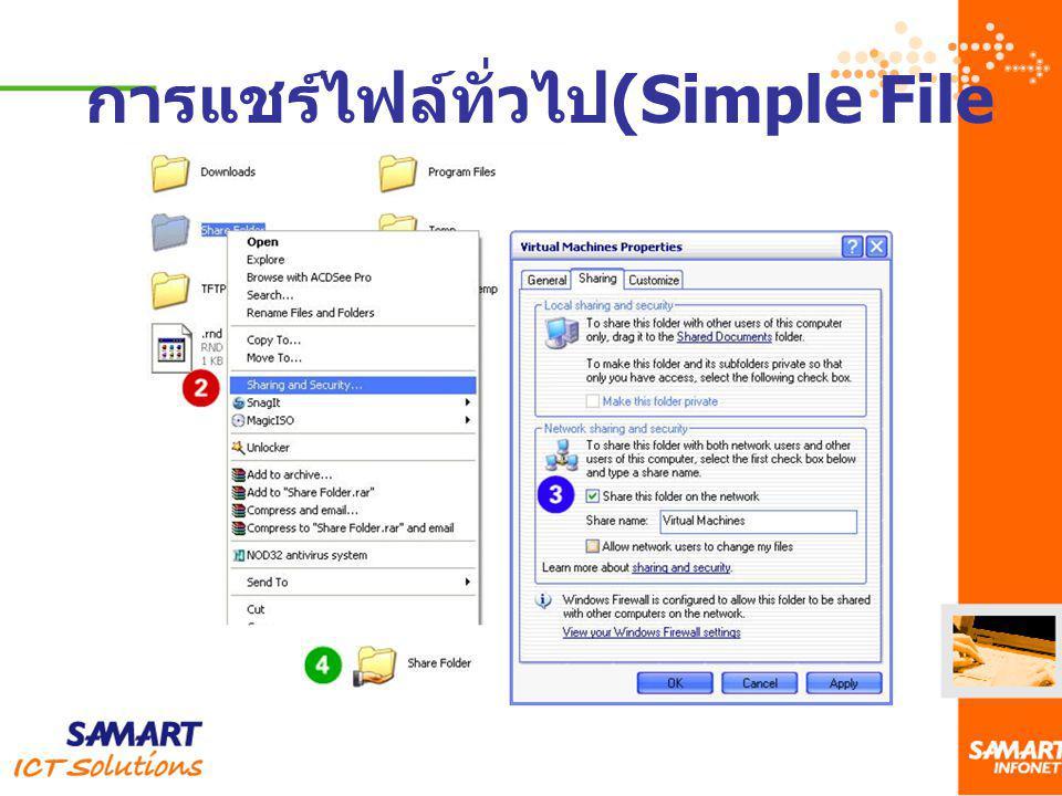 การแชร์ไฟล์ทั่วไป (Simple File Sharing )