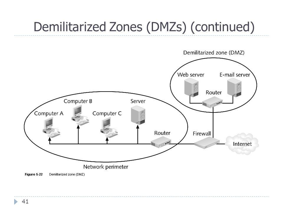 Demilitarized Zones (DMZs) (continued) 41