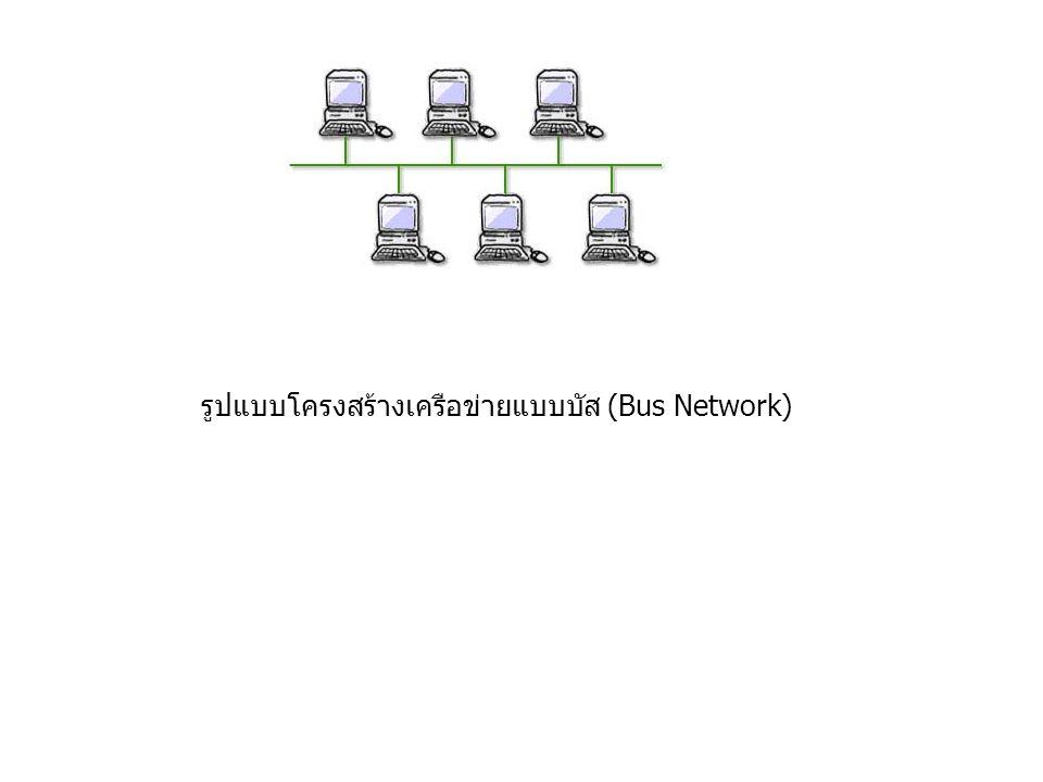 รูปแบบโครงสร้างเครือข่ายแบบบัส (Bus Network)
