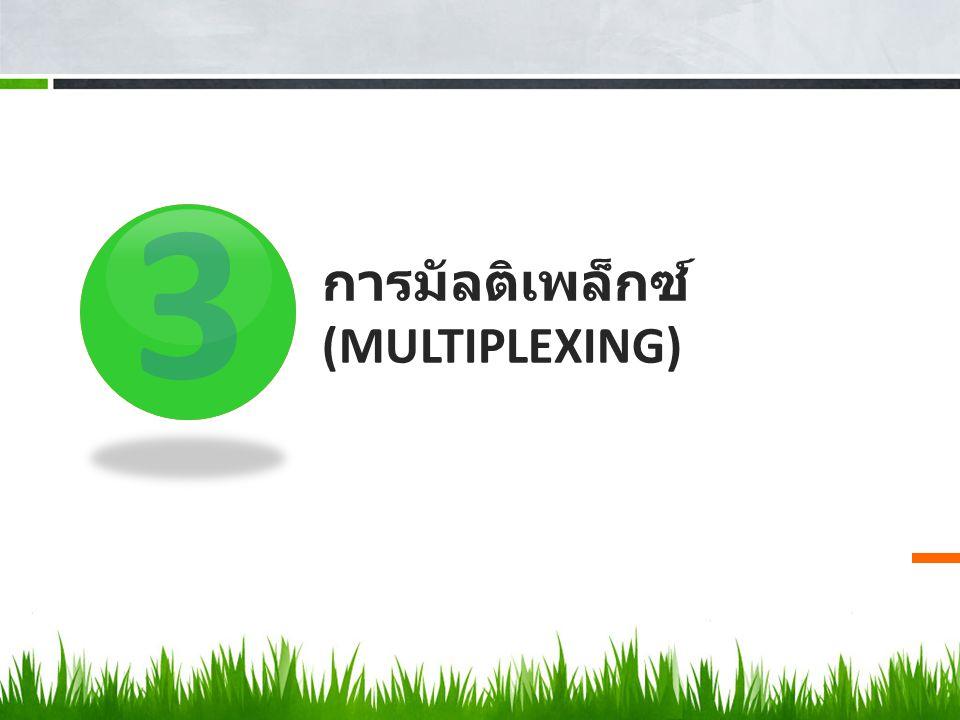 3 การมัลติเพล็กซ์ (MULTIPLEXING)