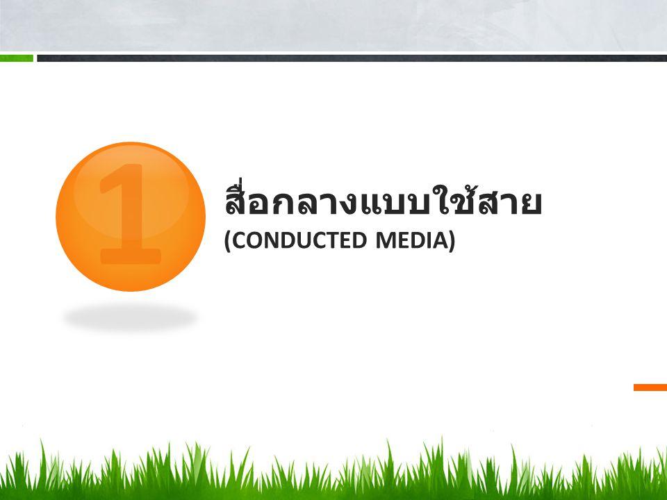 สื่อกลางแบบใช้สาย (CONDUCTED MEDIA) 1