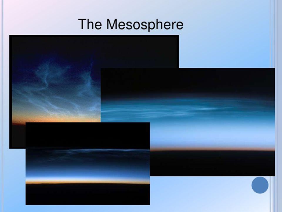 เป็นชั้นที่ประกอบด้วยแก๊สโอโซน.แก๊สโอโซนจะทำหน้าที่ดูดซับรังสีอัล ตราไวโอเล็ตที่มาจากดวงอาทิตย์.