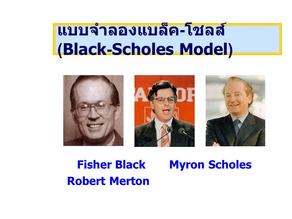Fisher Black Myron Scholes Robert Merton แบบจำลองแบล็ค - โชลส์ (Black-Scholes Model)