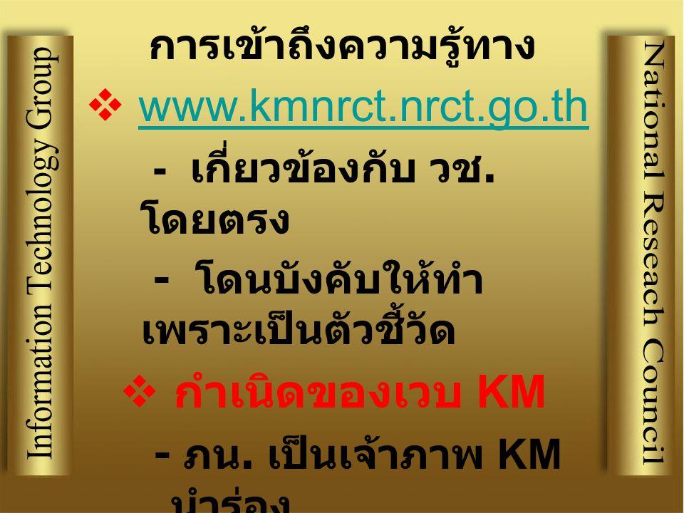 www.kmnrct.nrct.go.th
