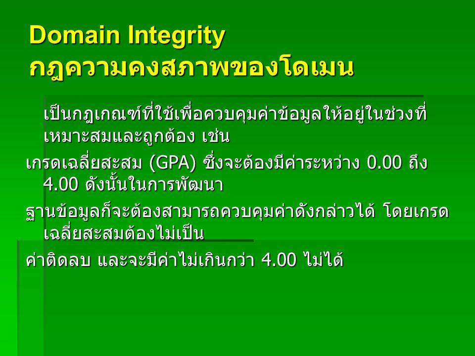Domain Integrity