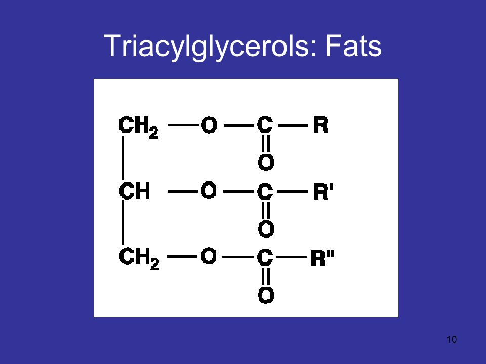 10 Triacylglycerols: Fats