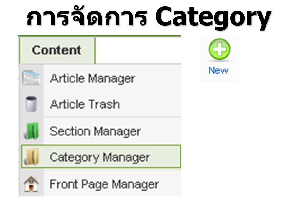 การจัดการ Category